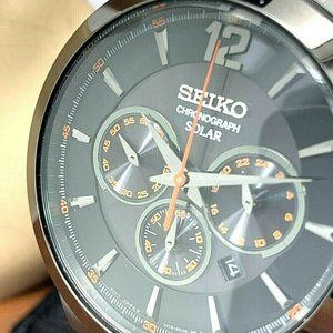 Seiko Men's Watch SSC323 Solar Chronograph 45mm